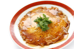 Egg foo young ,  chinese omelet with crab meat Royalty Free Stock Photos