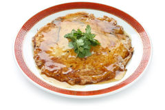 Egg foo young ,  chinese omelet with crab meat Stock Images