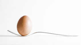 Egg and fork Royalty Free Stock Images