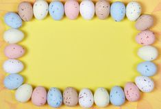 Egg frame Royalty Free Stock Images