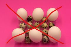 Egg Free Affected Allergy Banned Restriction design . royalty free stock photo