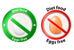 Egg free.  icons for design pack Stock Photos