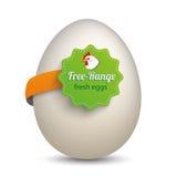 Egg Free Range Label Stock Photography