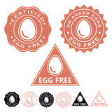 Egg Free Seals Icons Set Royalty Free Stock Image