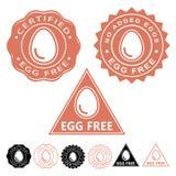 Egg Free Seals Icons Set Royalty Free Stock Image