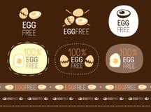 Egg free sign set Stock Image
