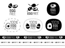 Egg free sign set Royalty Free Stock Image