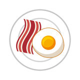 egg fried isolated icon vector illustration