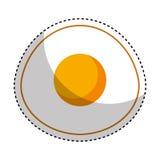 egg fried isolated icon stock illustration