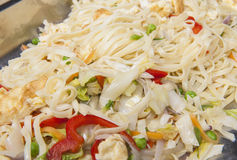 Egg fried noodles meal at a chinese restaurant buffet Stock Images