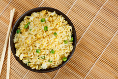 Egg fried rice. Bowl of egg fried rice an excellent side order with chinese food Stock Images