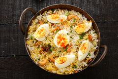 Egg fried rice .cooked with famous Indian spices and herbs, Stock Photography