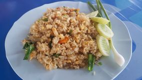 Egg fried rice. Thai food Royalty Free Stock Image