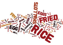 Egg Fried Rice Word Cloud Concept Royalty Free Stock Image