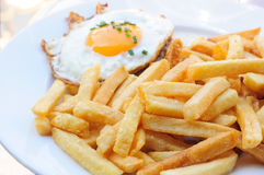 Egg and fries Stock Image