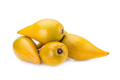 Egg fruit, Canistel, Yellow Sapote Stock Photos
