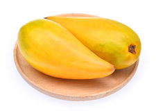 Egg fruit, Canistel, Yellow Sapote (Pouteria campechiana (Kunth) Royalty Free Stock Photos
