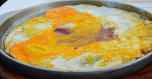 Egg frying Stock Photography