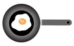 Egg in frying-pan. Illustration of egg in flying-pan Royalty Free Stock Photos