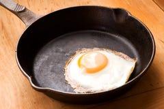 Egg in Frying Pan Stock Photo