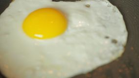 Egg frying in a pan. 1080p high def stock video