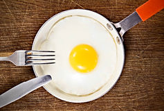 Egg in frying pan. Royalty Free Stock Images