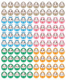 Egg fun face set Royalty Free Stock Photography