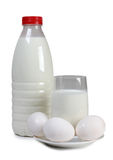 Egg and glass milk Royalty Free Stock Photography