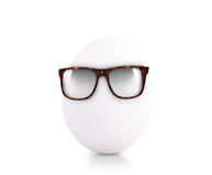 Egg in glasses isolated on white background Stock Images