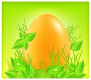 Egg on grass Stock Image