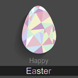 Egg. On a gray background with a mosaic pattern Stock Images