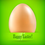 Egg on green & text Stock Photos