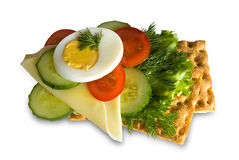 Egg and green vegetables sandwich Royalty Free Stock Photo