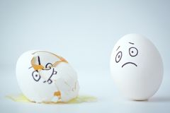Egg grief Stock Image