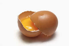 Egg halved Stock Photo