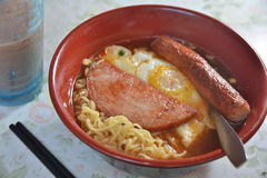 Egg ham noodle Stock Photography