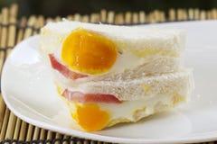 Egg and Ham Sandwich Stock Image