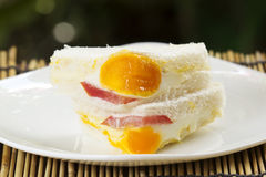 Egg and Ham Sandwich Royalty Free Stock Photography