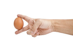 Egg on hand. Stock Images