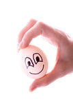 Egg in hand isolated Royalty Free Stock Image