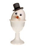 Egg with a hat Royalty Free Stock Images