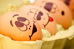Egg heads Stock Photography