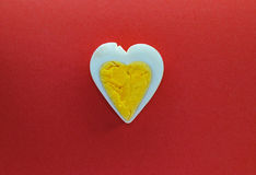 Egg heart background Royalty Free Stock Photography