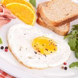 Egg heart, breakfast Royalty Free Stock Photos