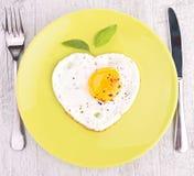 Egg heart Royalty Free Stock Image