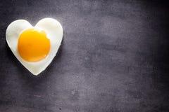 Egg heart. Stock Image