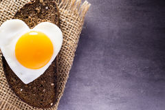 Egg heart. Stock Photography