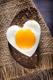 Egg heart. Stock Images