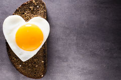 Egg heart. Royalty Free Stock Image