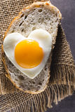Egg heart. Royalty Free Stock Images